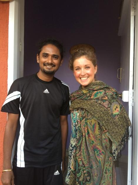 Danielle with Yogacharya Vinay Kumar